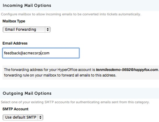 Editing Mail Server Settings