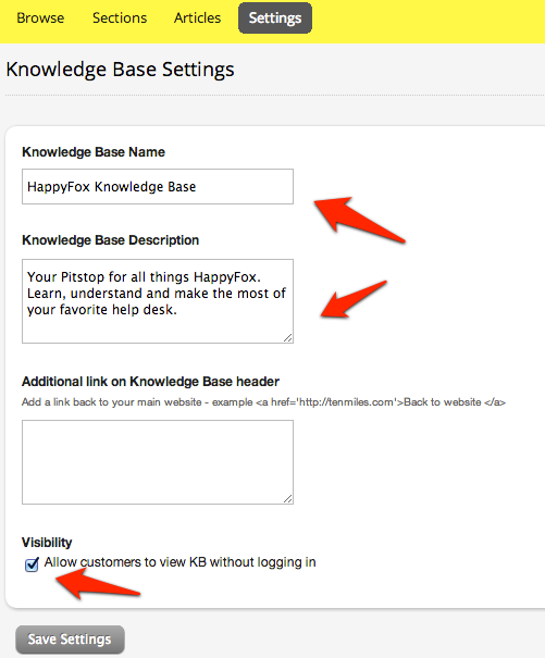 Setting up a Knowledge Base