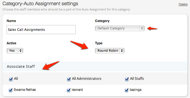 Auto Assignment Options