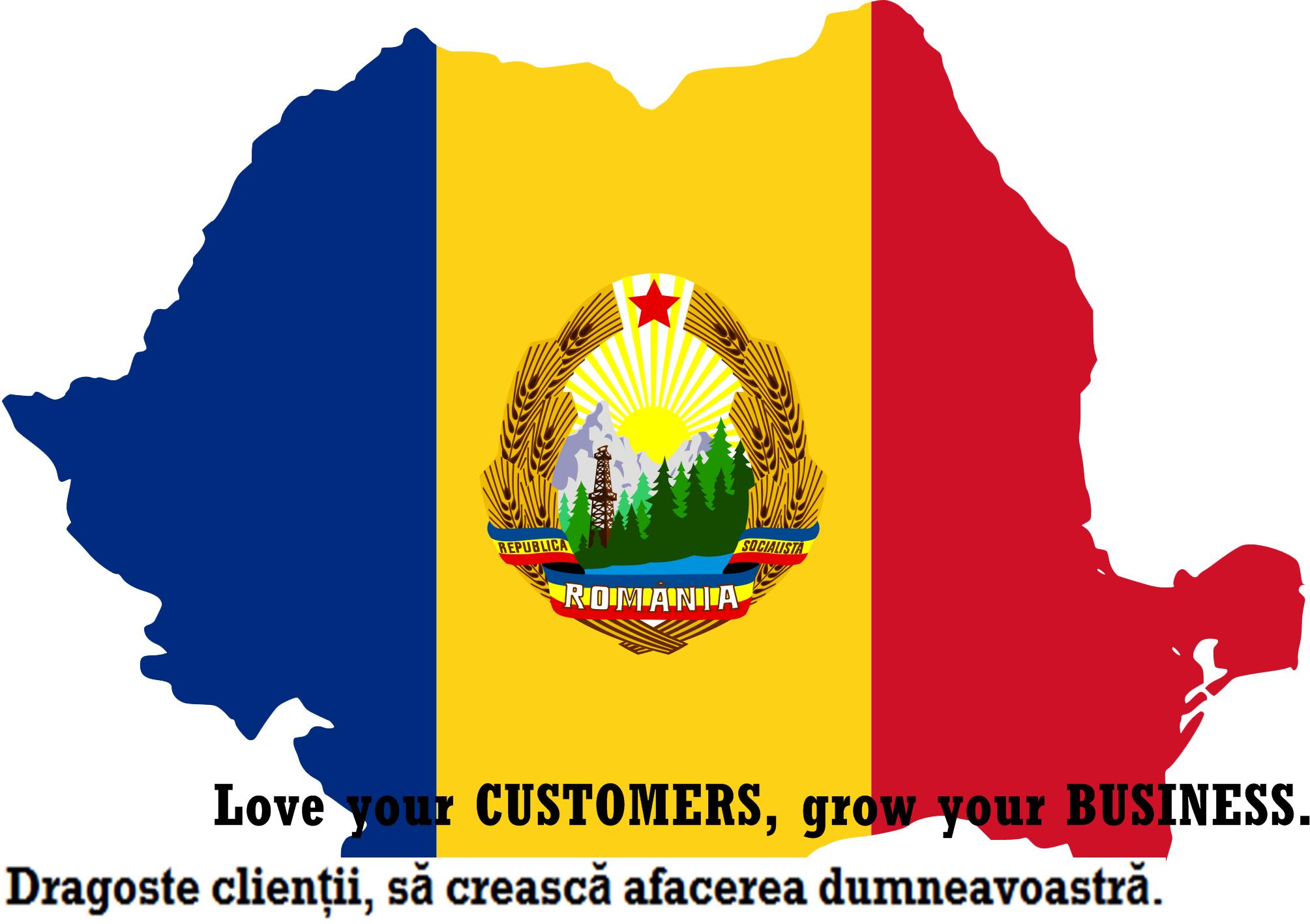 Flag Map Of Communist Romania