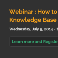 Knowledge base webinar