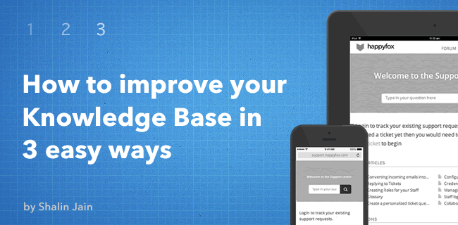 How to improve your Knowledge Base in 3 easy ways