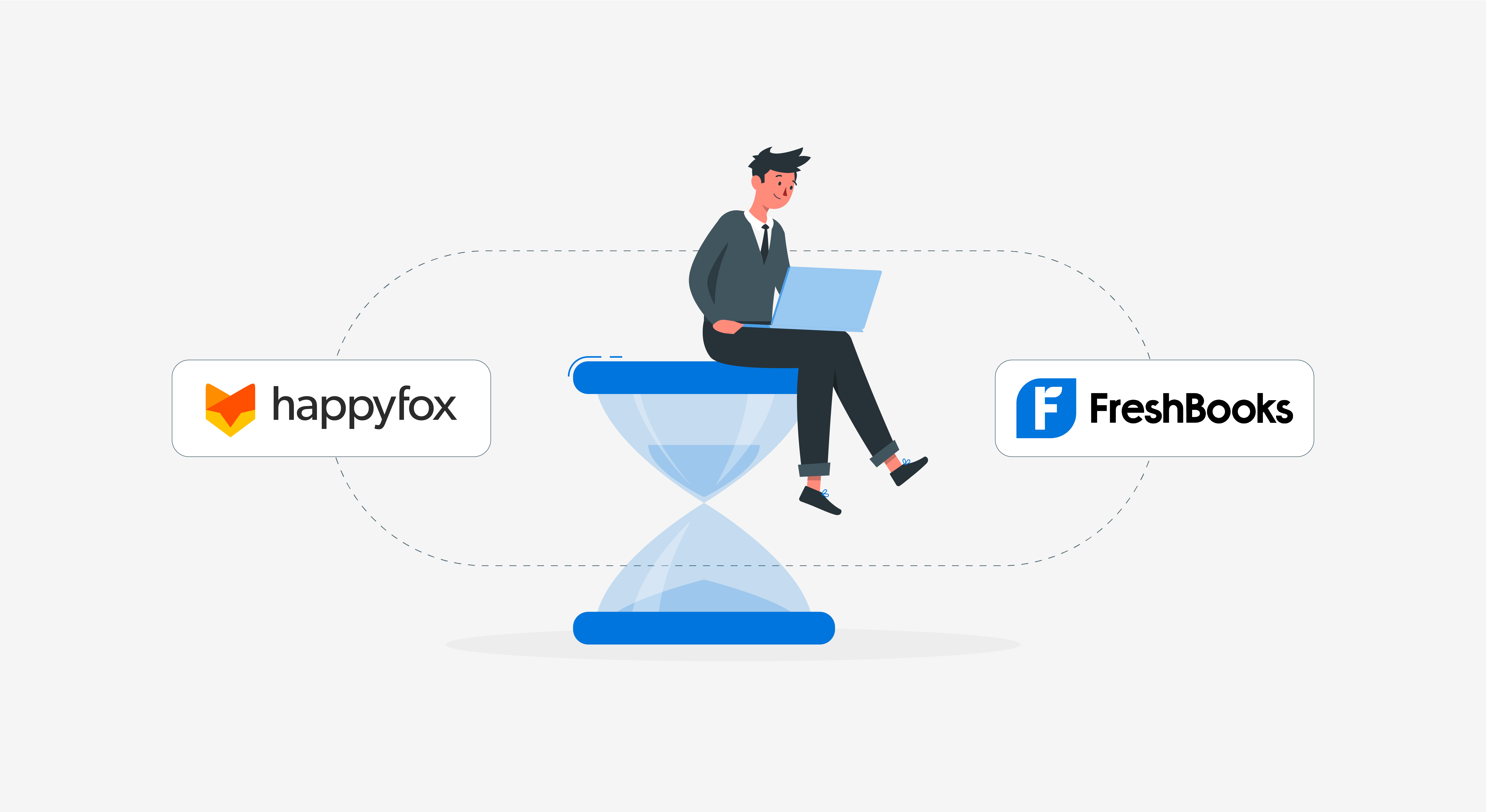 Track time and manage customer relationships with HappyFox and FreshBooks
